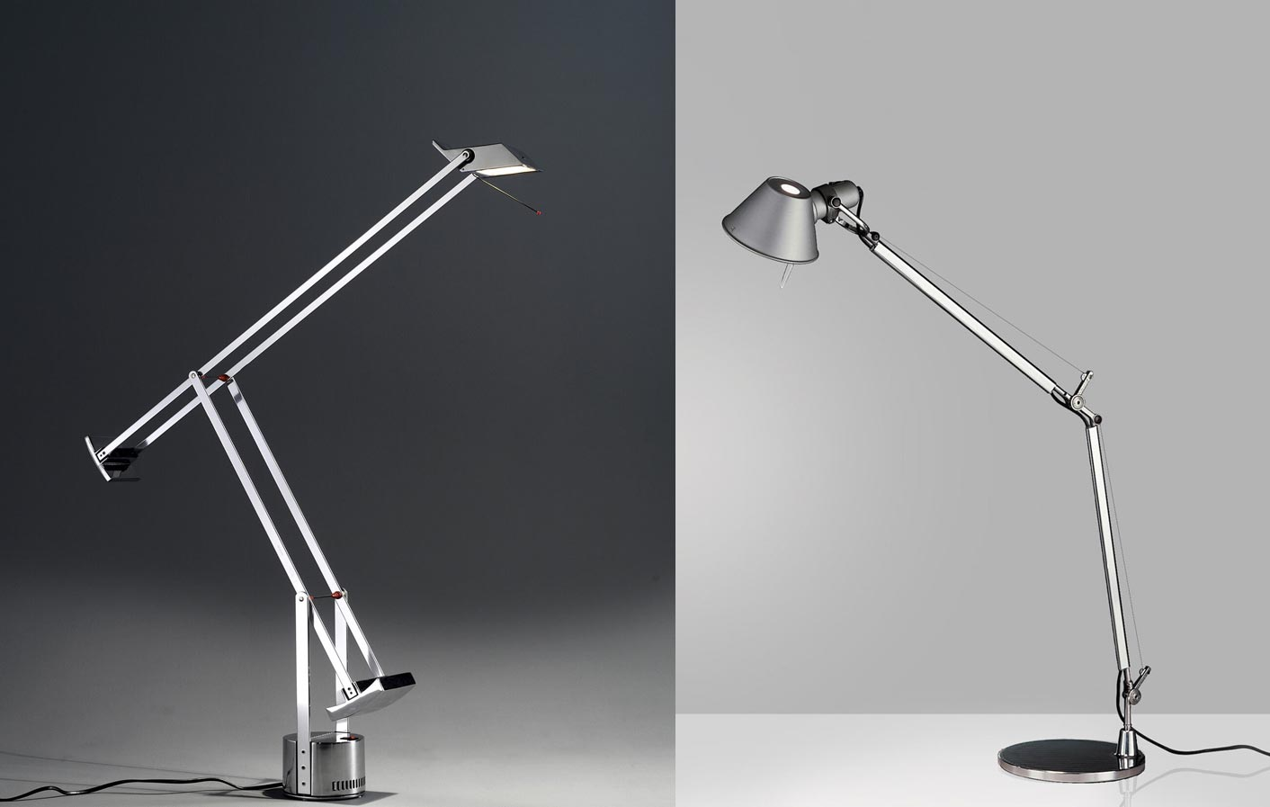 lumiere artemide tizio and tolomeo